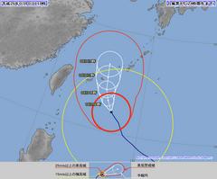 台風8号(ノグリー)